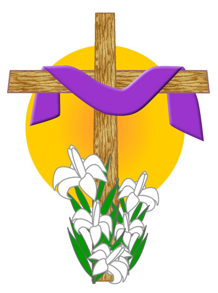 Clipart cross easter. Free catholic flower cliparts