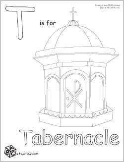 Coloring pages by barbara. Catholic clipart tabernacle