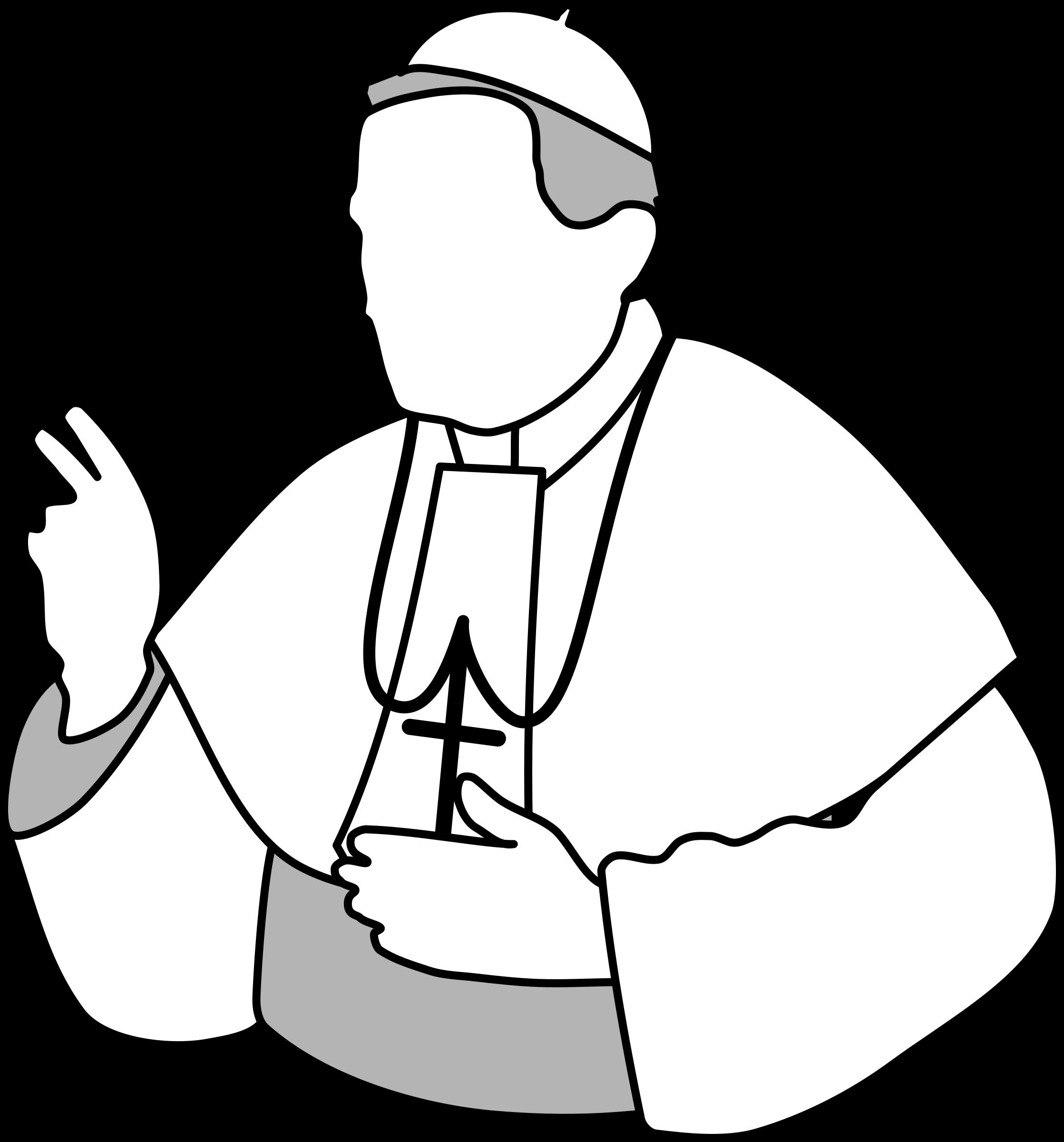 Pope big image png. Website clipart line art