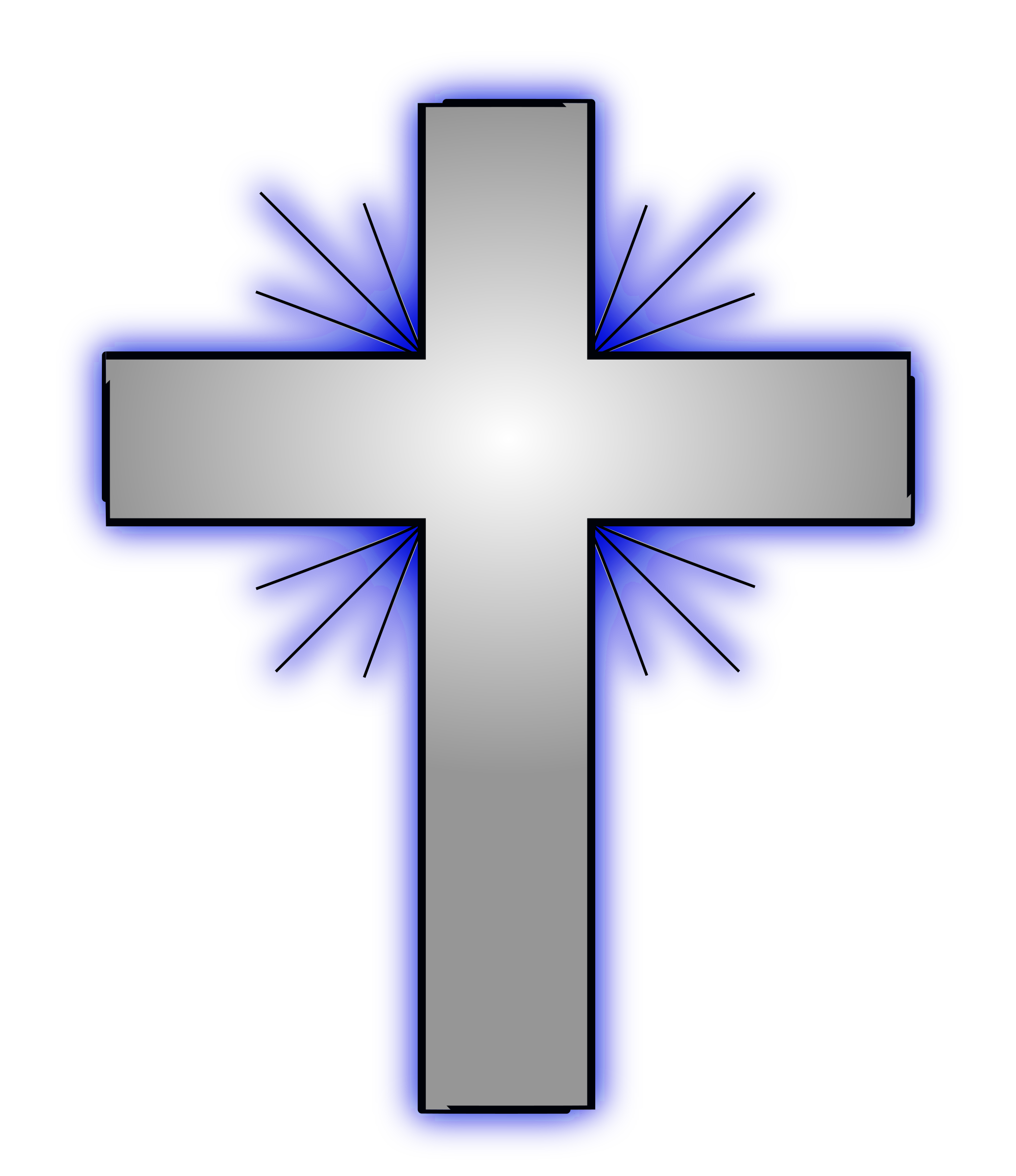 Iv big image png. Clipart cross blue