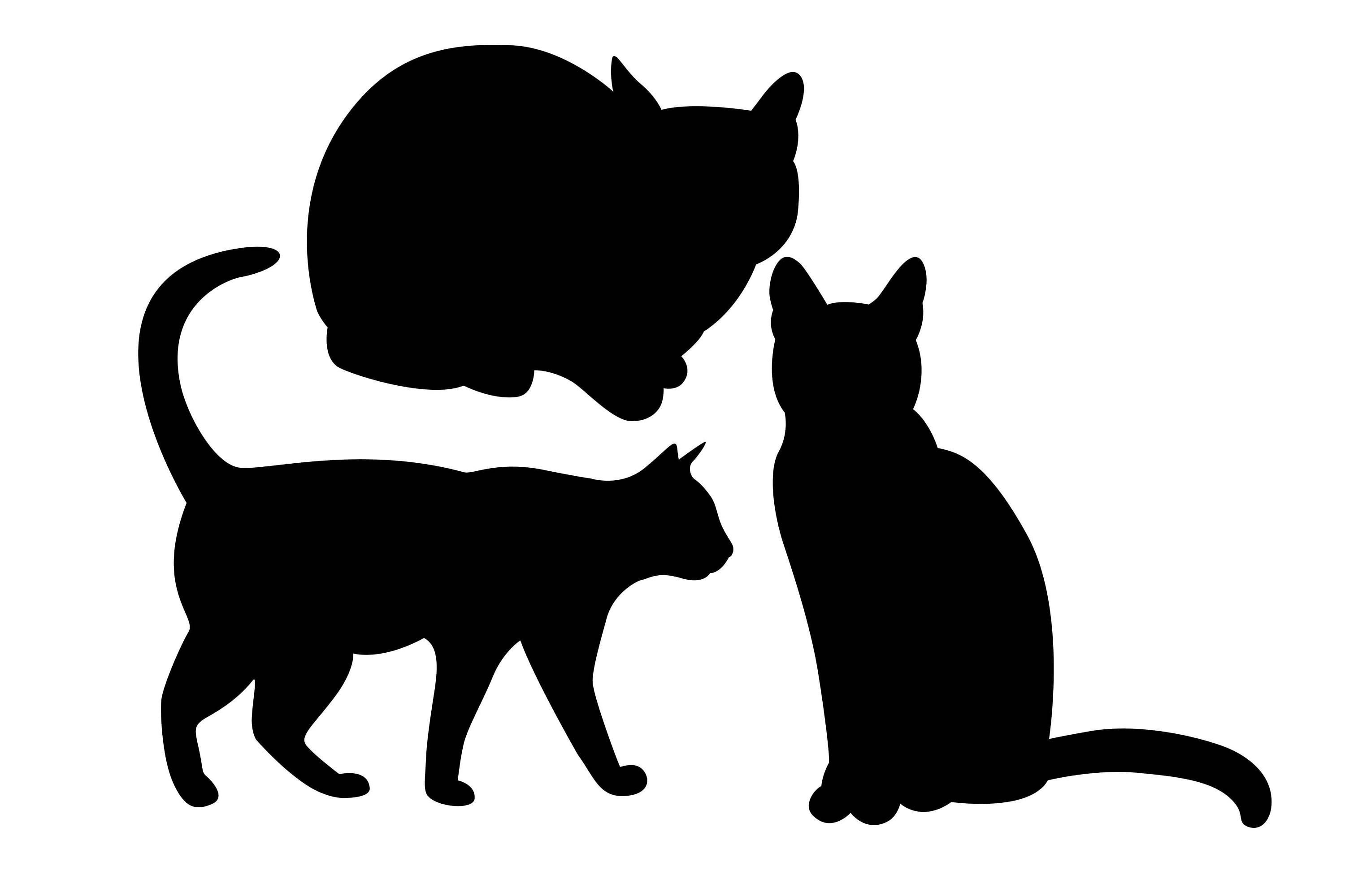 Cats clipart art. Cat silhouette clip at
