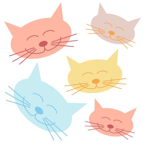 Cat clipart art. Clip lovetoknow happy face