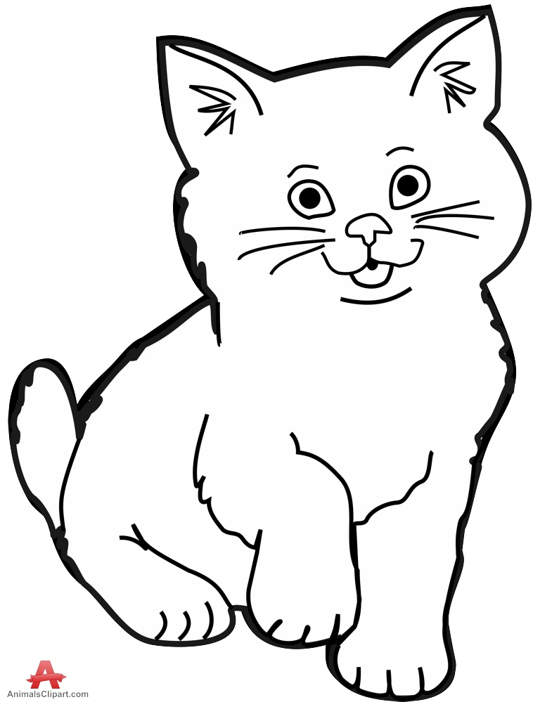 Cats clipart black and white. Cat clipartix