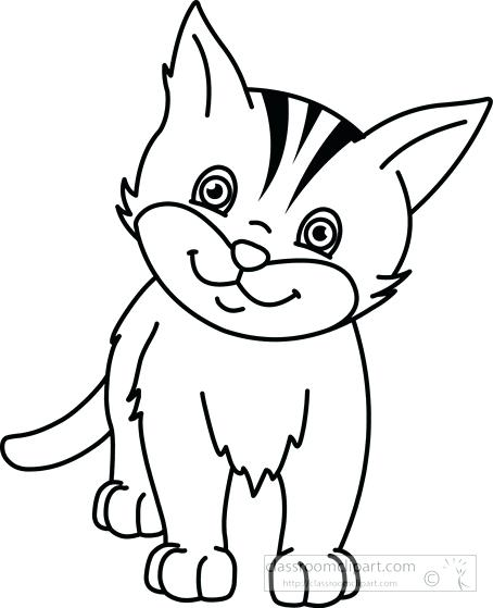 Cats clipart black and white. Cat drawing at getdrawings