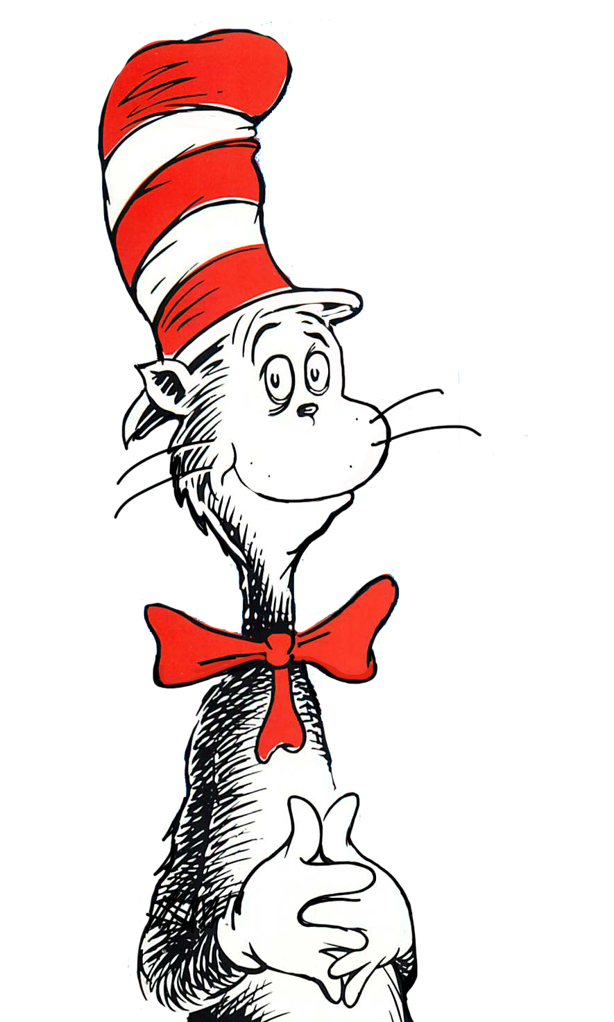 The cat in hat. Ham clipart cartoon