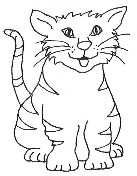 Cats clipart outline. Cat drawing at getdrawings