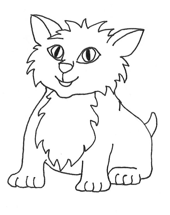 Cat clip art sketches. Cats clipart outline