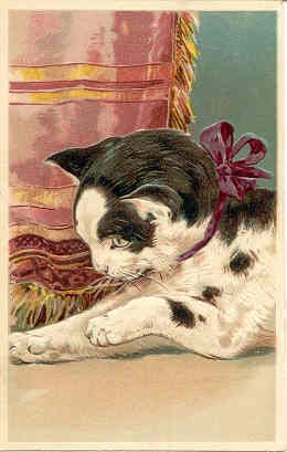 Cats clipart post.  best victorian images