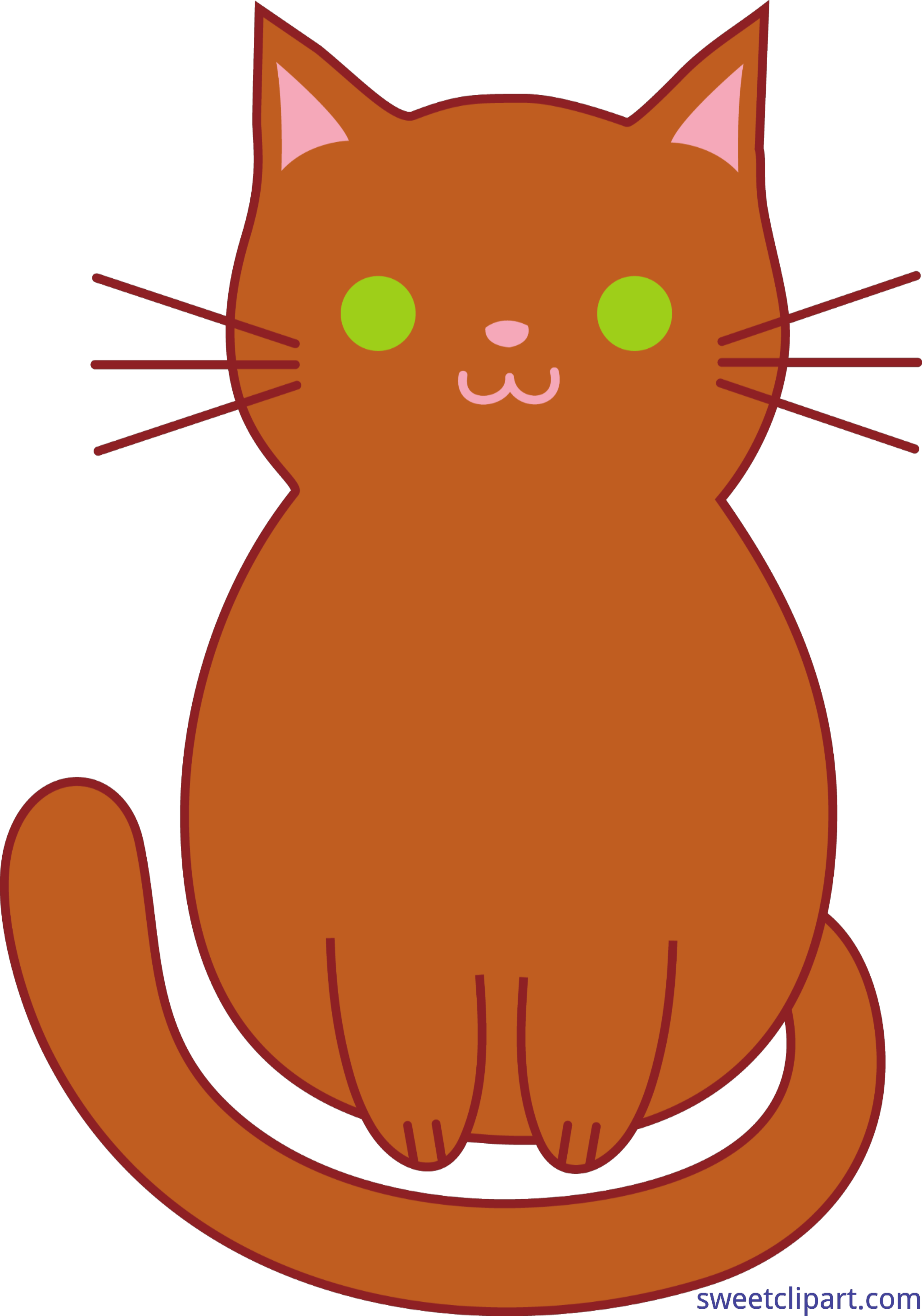 Cat kitten cute brown. Orange clipart cats