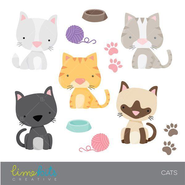 Cat clipart printable.  best cats clip