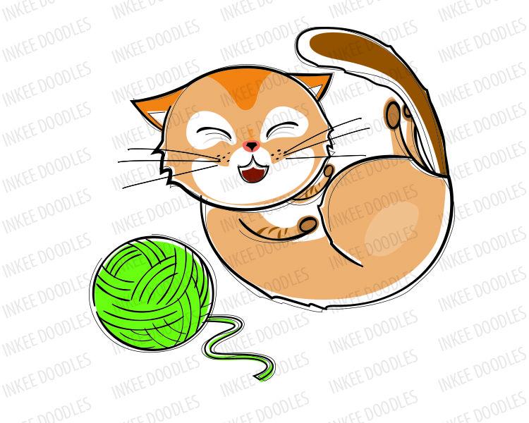 Laughing cat clip art. Cats clipart run