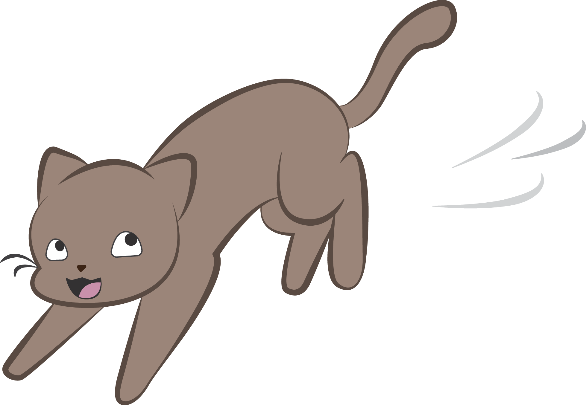 The hidden world of. Cats clipart run