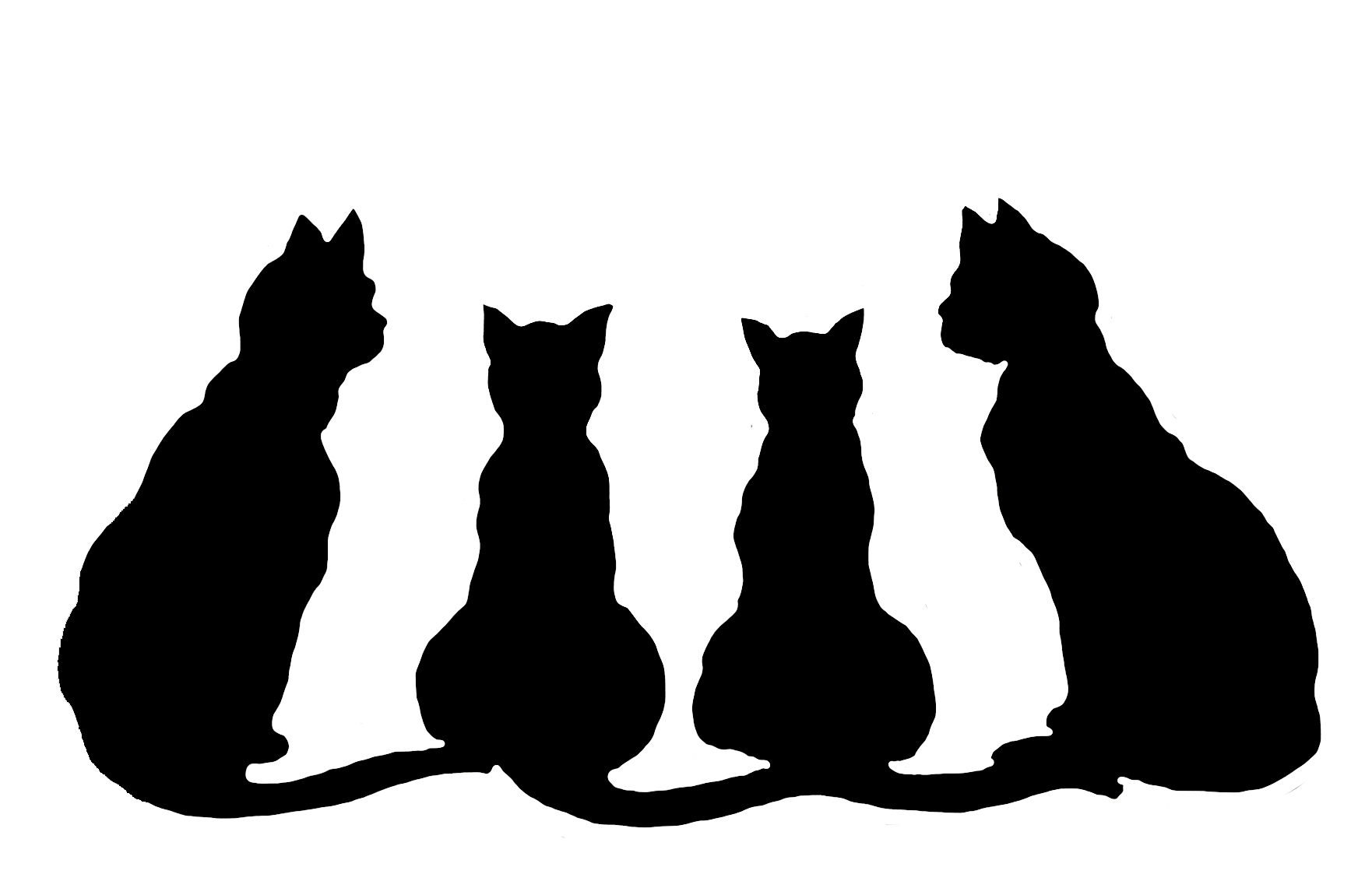 Pictures of at getdrawings. Cats clipart silhouette