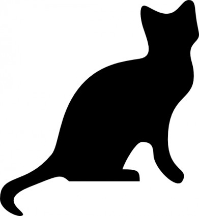 Dog and cat clip. Cats clipart silhouette