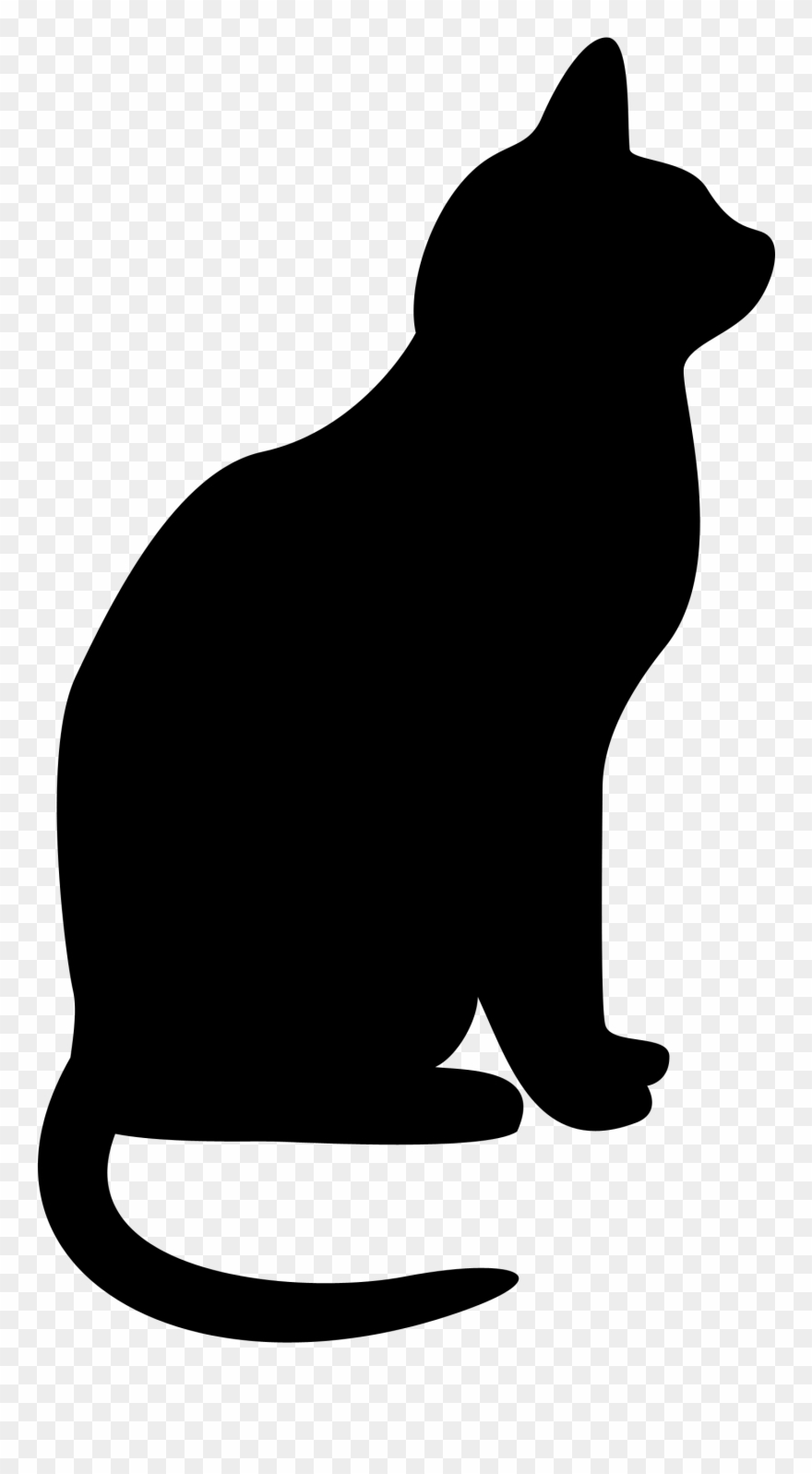 Cats clipart silhouette. Clip art transparent library