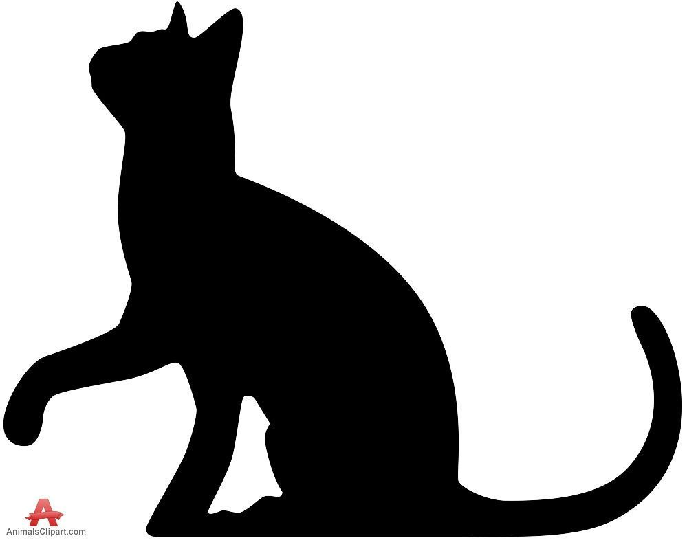Cats clipart silhouette. Cat looking up free