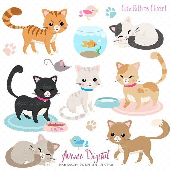 best pets images. Cats clipart supply