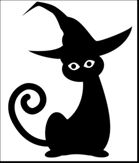 Cats clipart template. Black cat free design