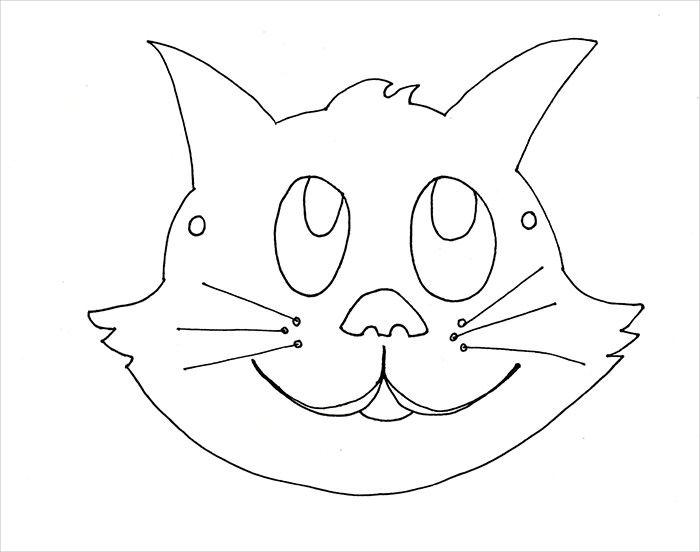 Cats clipart template.  masks secenje bockanje