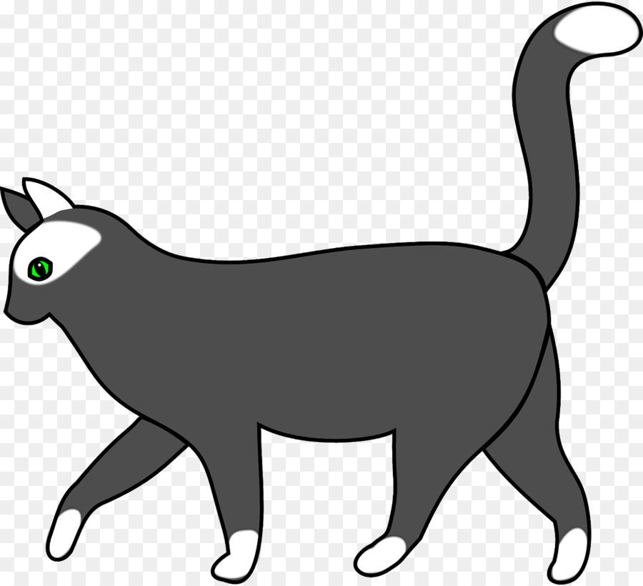 Cat clip art gray. Cats clipart walking