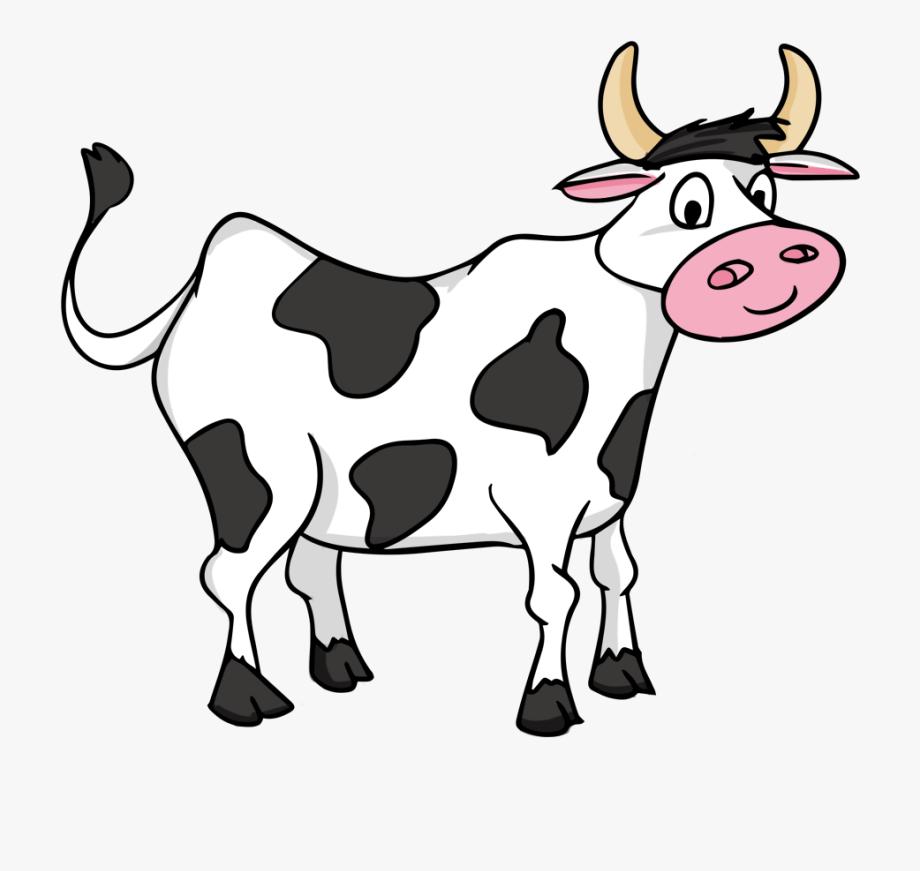 Clip art black and. Cow clipart cartoon