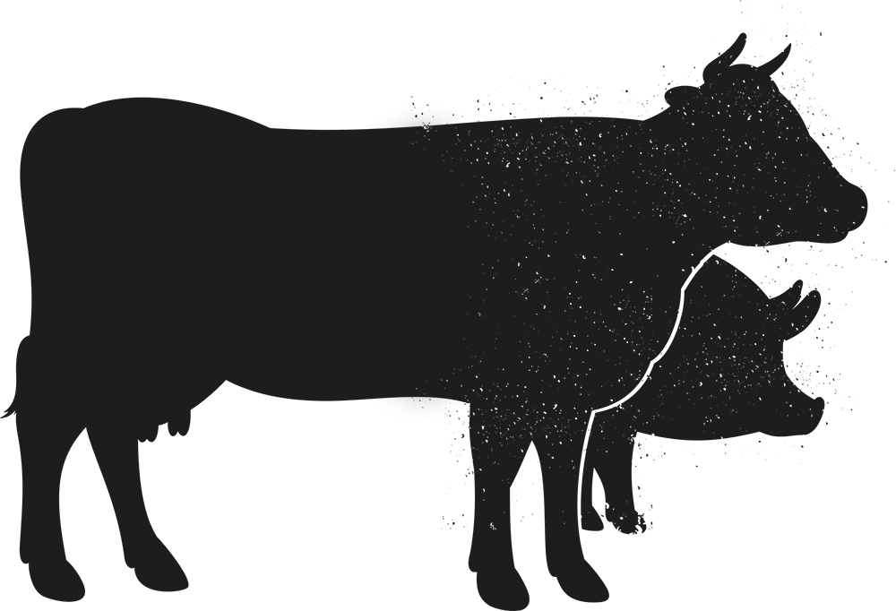 Cow clipart shadow. Show silhouette at getdrawings