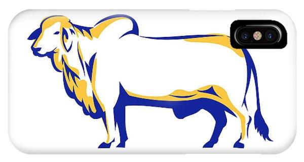 Cattle clipart brahma bull. Brahman iphone cases fine