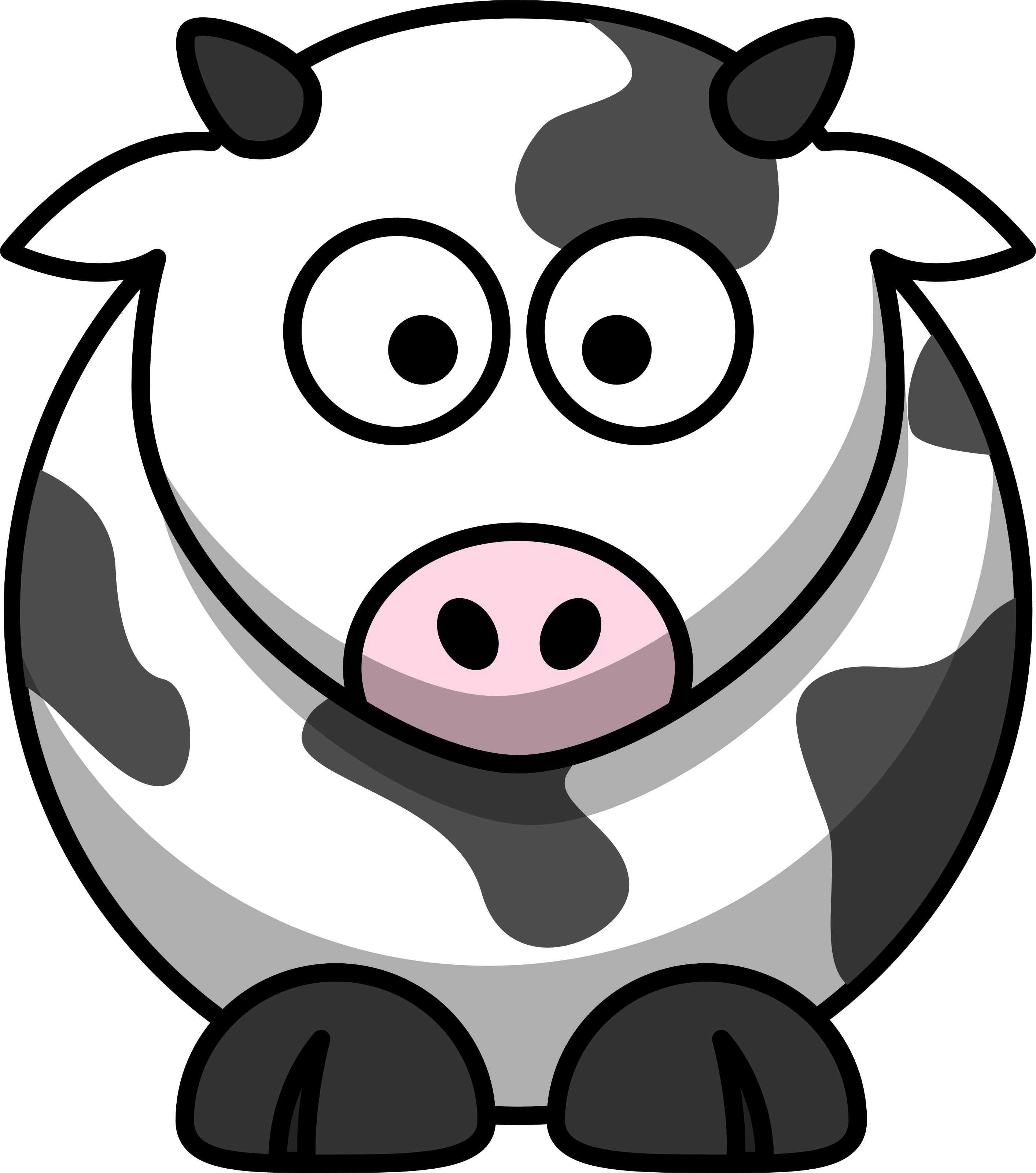 Cow clipart cartoon. Technique of the week