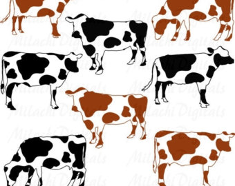 Cow pencil and in. Cattle clipart cattle herd