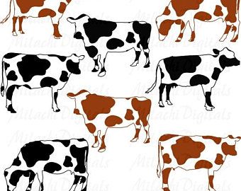 Cattle clipart cattle herd. Cow etsy off sale