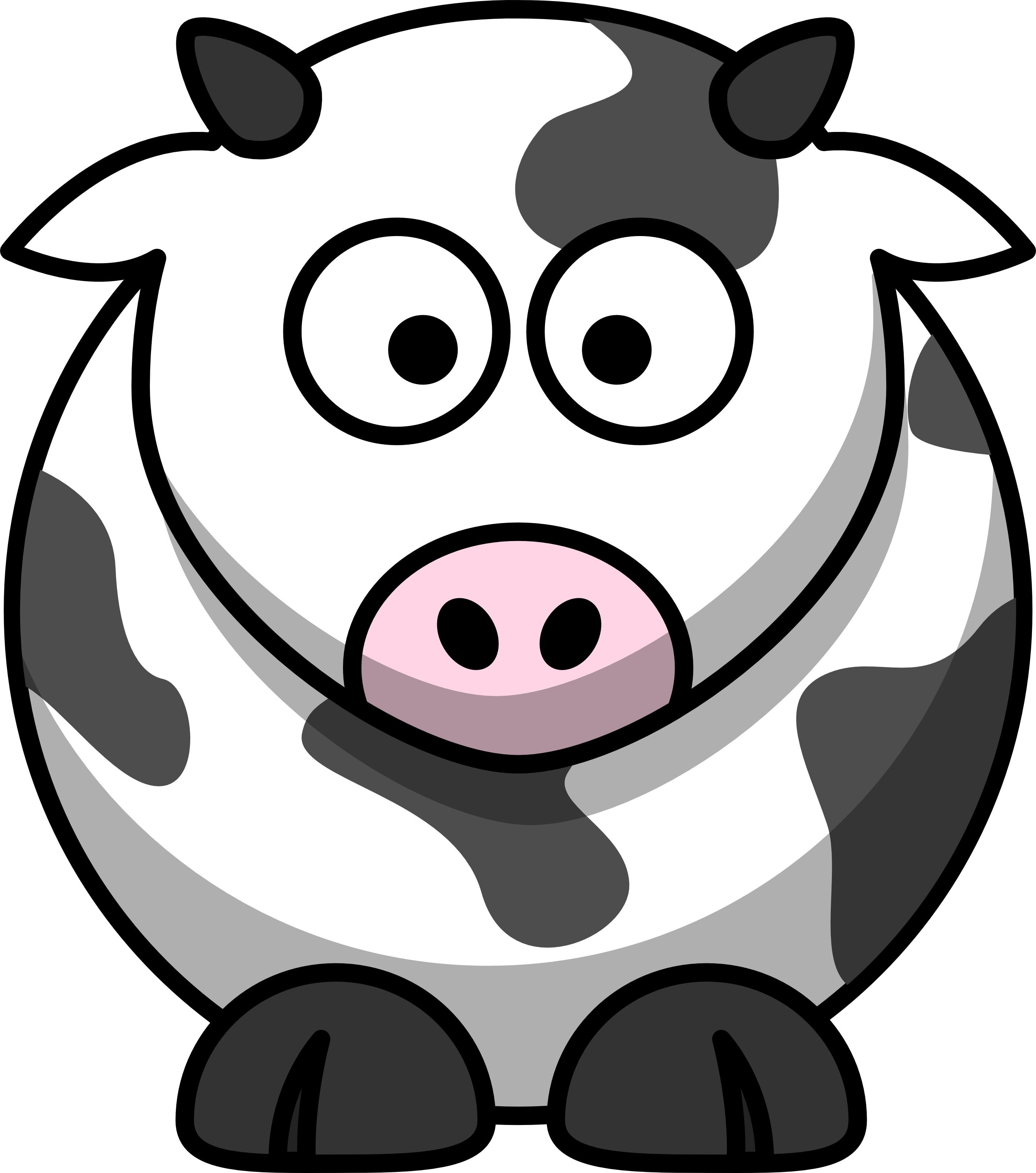 Cows clipart gambar. Free cartoon cow clip