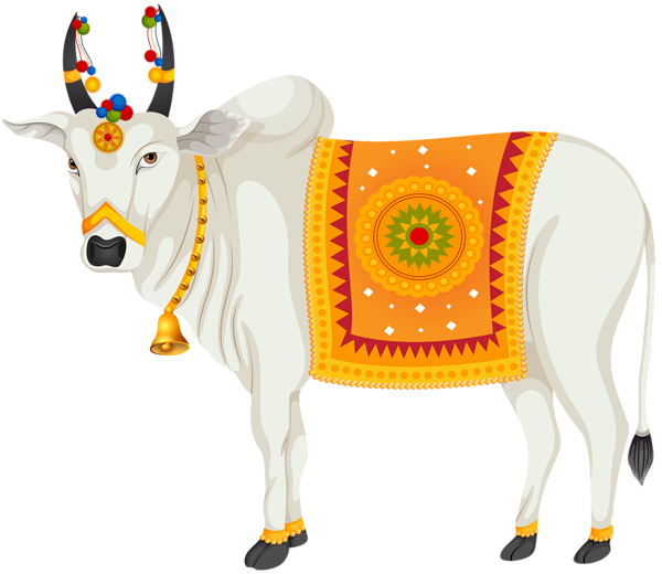 India holy transparent clip. Gold clipart cow
