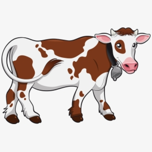 Ox shelter indian cows. Cow clipart colored