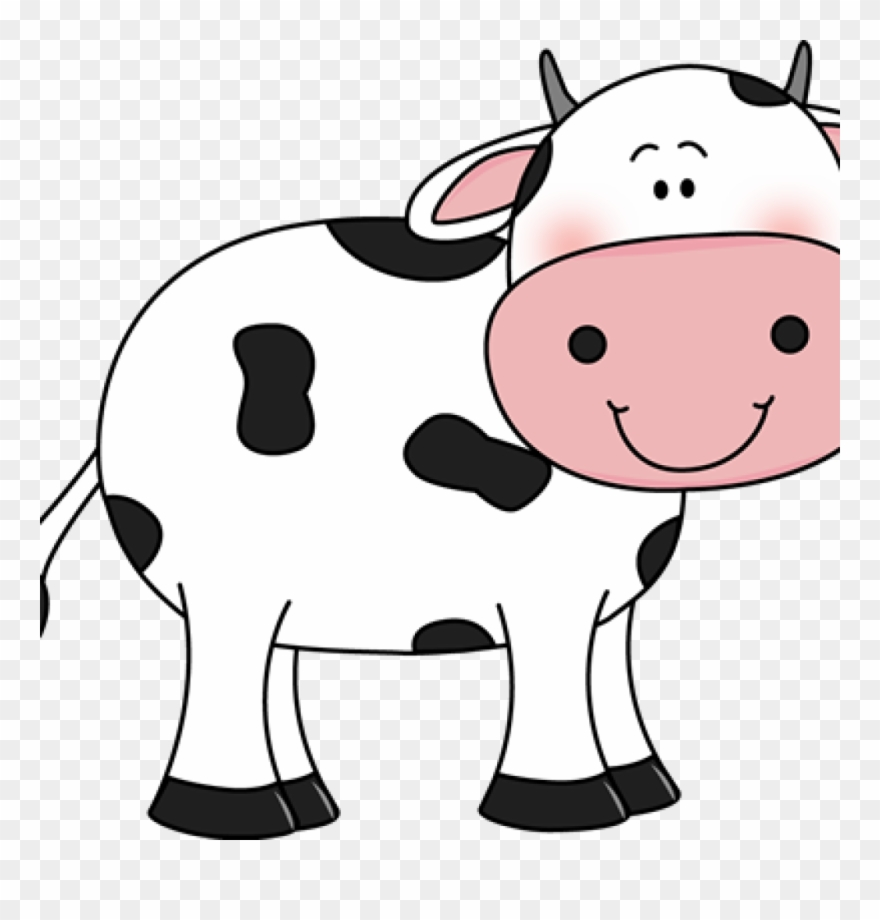Cows clipart cute. Cow with black spots