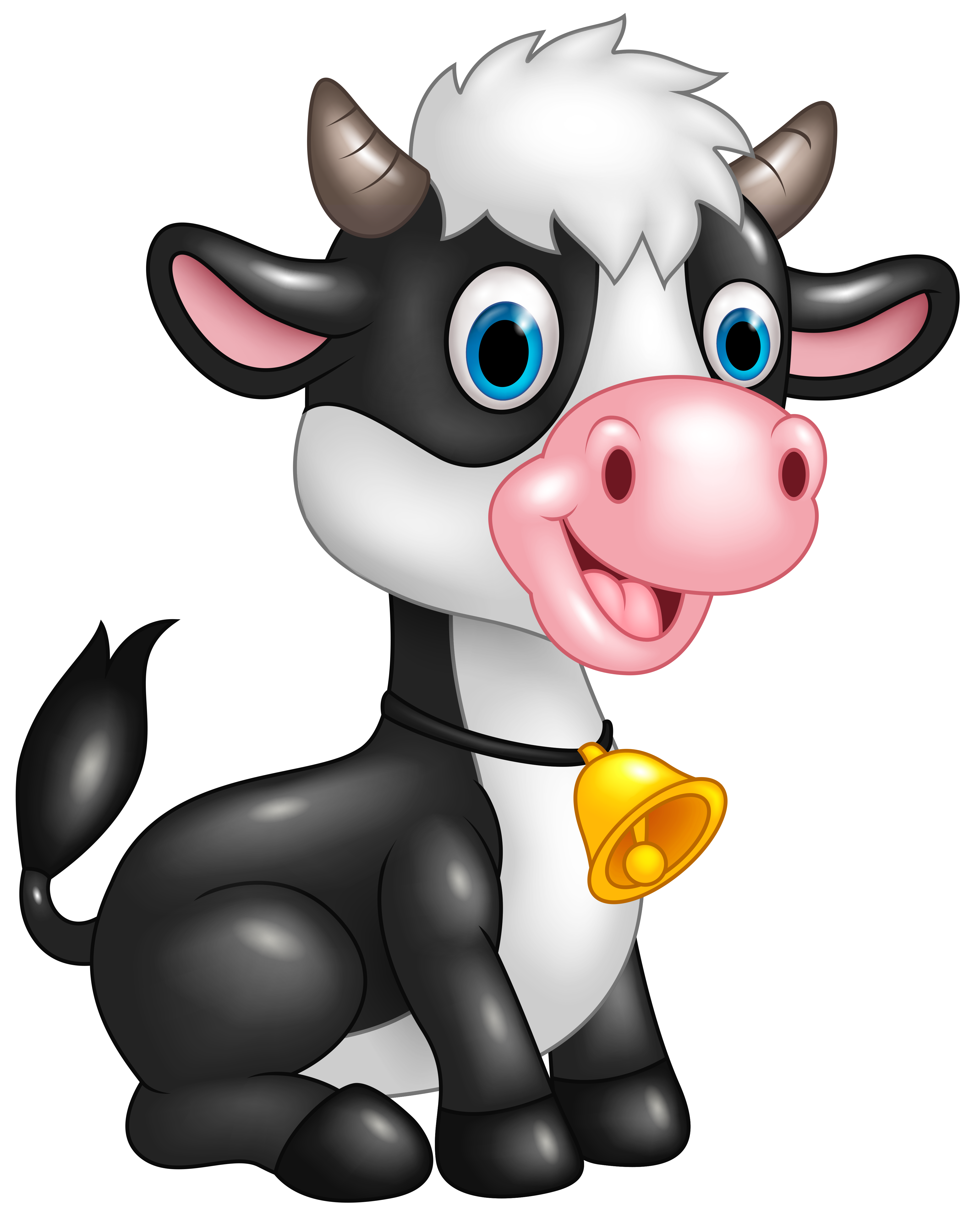 Clipart cow cartoon. Cute png image gallery
