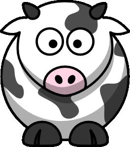 Cows clipart simple. Cartoon cow clip art