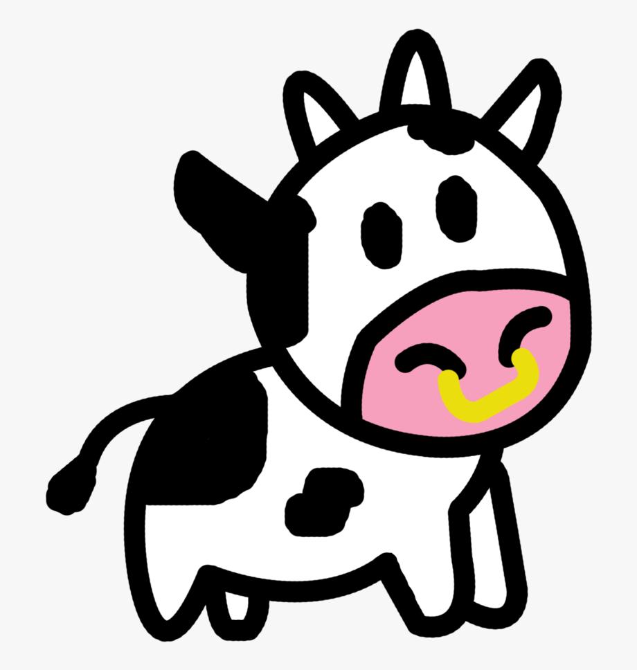 Cartoon clip art free. Cow clipart easy