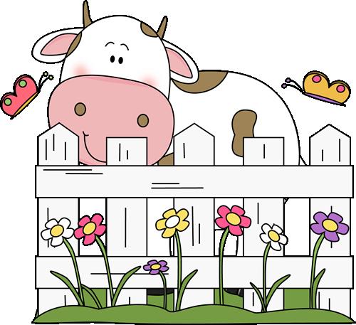 Cow clipart fence. Cute cowr clip art