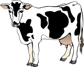 Dairy cow silhouette at. Cattle clipart home
