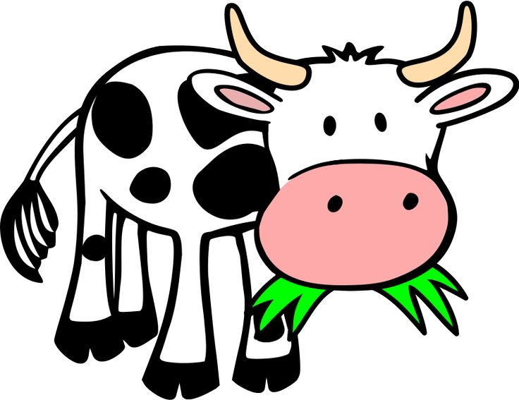 Fancy baby farm animals. Cattle clipart home