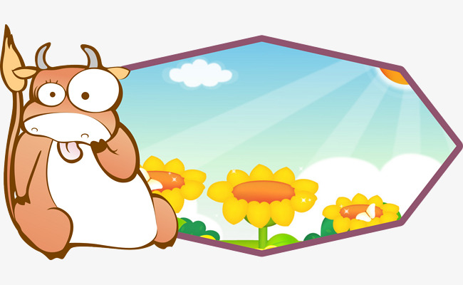 Sunflower blue sky png. Cattle clipart house