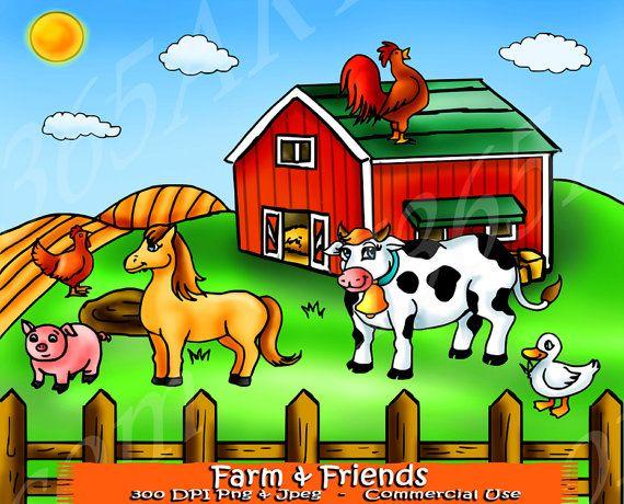 Farm animals clip art. Cattle clipart house