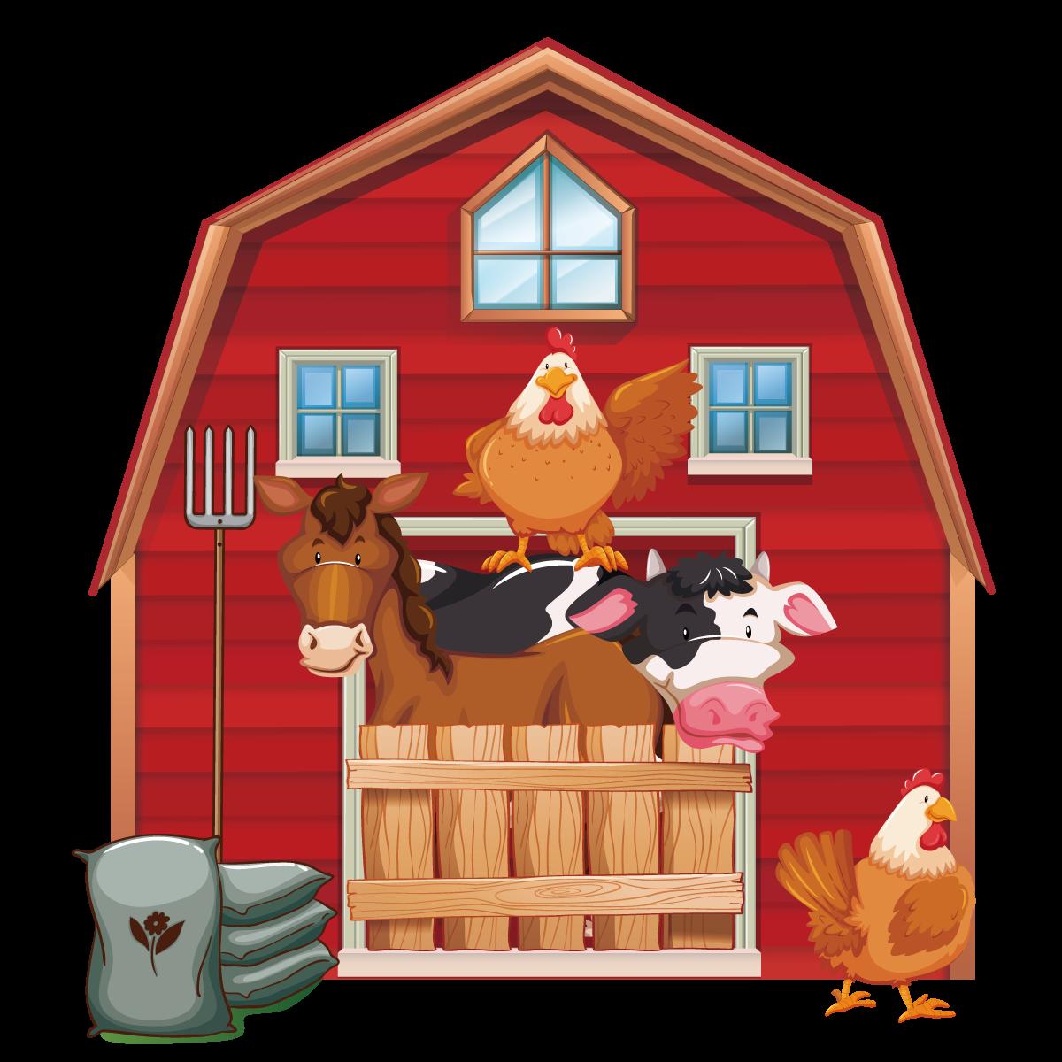 Silo farm barn clip. Cattle clipart house