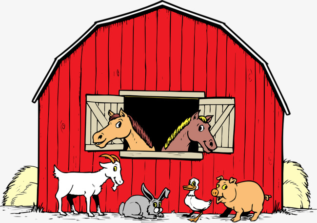 Animal red png image. Cattle clipart house