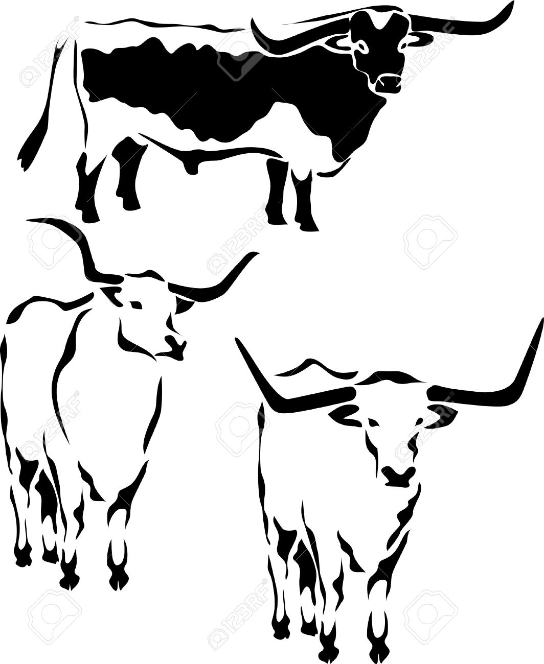 Cattle clipart longhorn cattle. Texas drawing at getdrawings