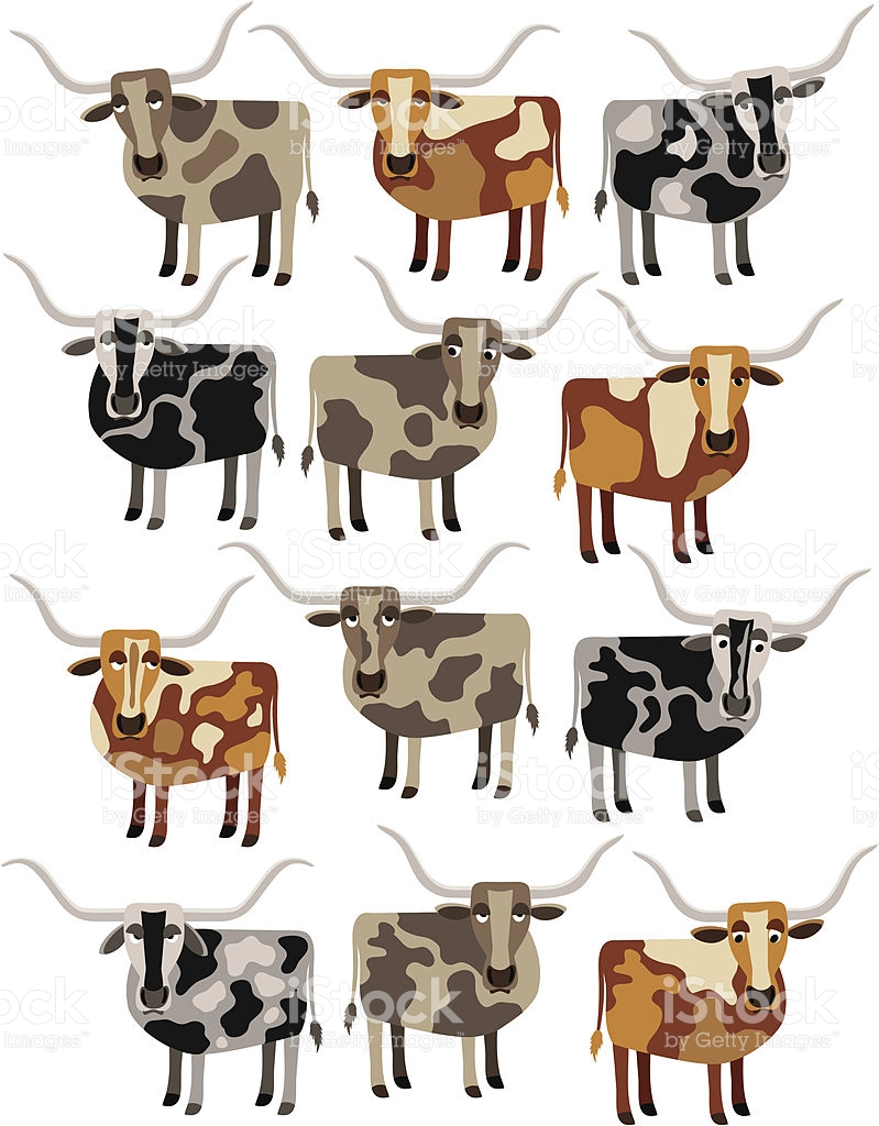 Cattle clipart male cow. Longhorn thin free collection