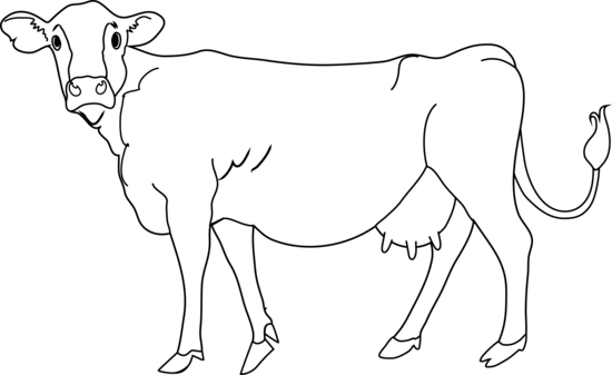 Cow clipart sign. Png black and white