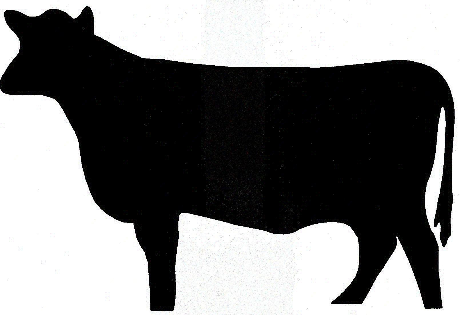 Beef clipart silhouette. Cattle at getdrawings com
