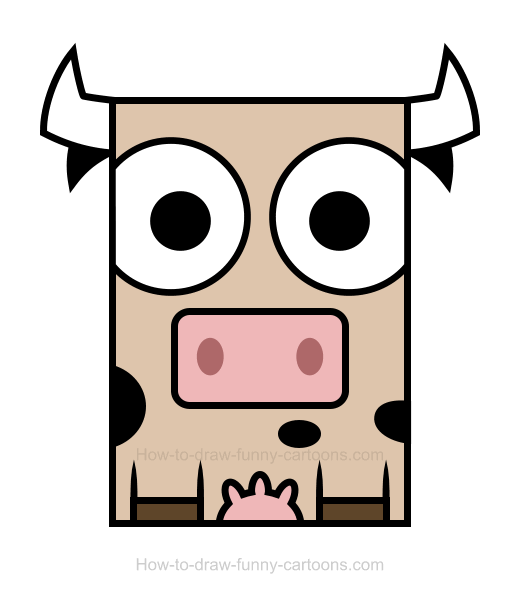 Cow clipart easy.