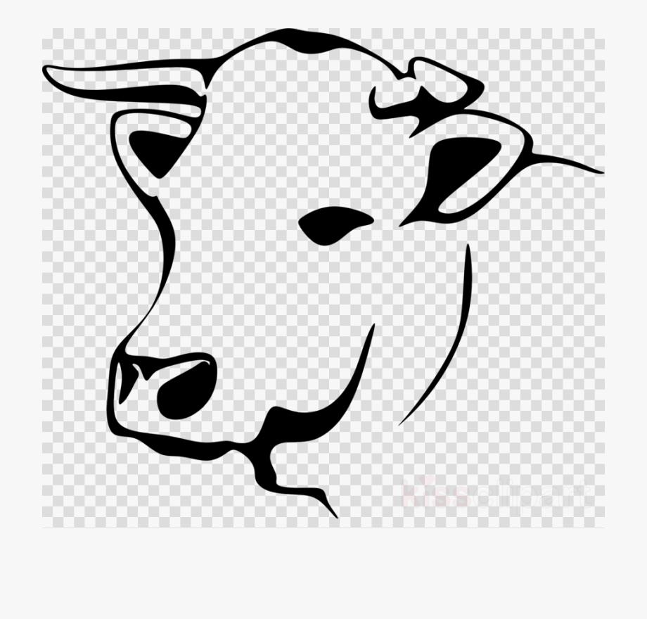 Cow line art beef. Cows clipart vector